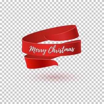 메리 크리스마스 인사말 카드, 브로셔 또는 포스터 템플릿. 추상 디자인. 빨간 리본.