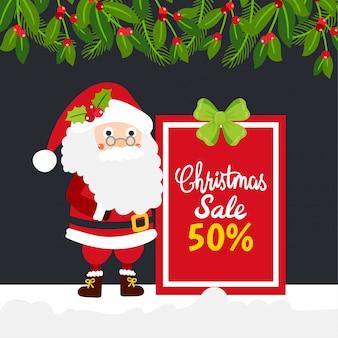 Merry christmas greeting card, christmas sale.