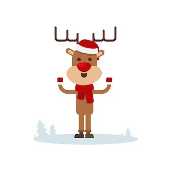 Merry christmas greeting card. dear