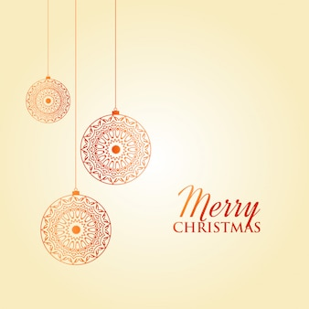 Merry christmas greeting card decoration design
