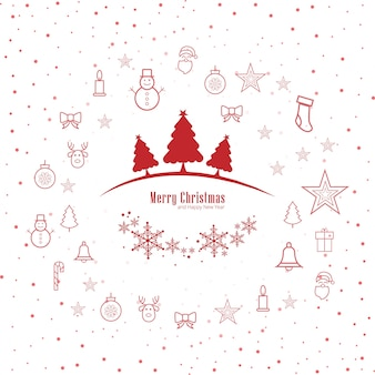 Merry christmas greeting card decorative background vector