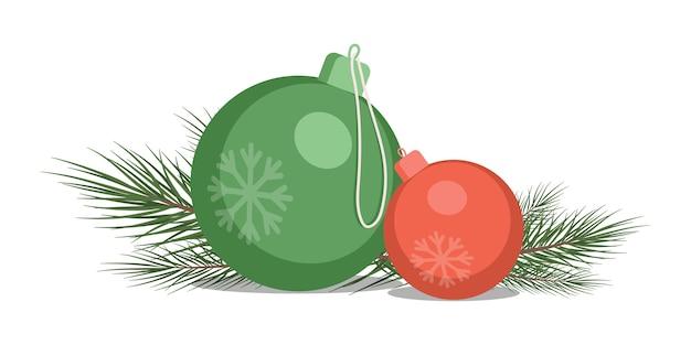 白い背景で隔離のメリークリスマスグリーティングカード要素。