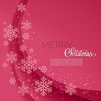 Merry christmas greeting card.  illustration.