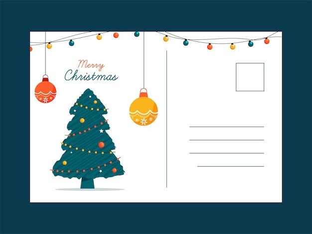 메리 크리스마스 인사말 카드 또는 엽서 텍스트위한 공간