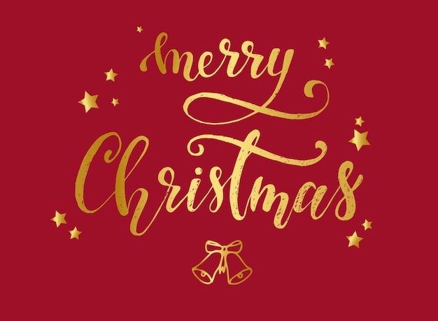 Merry christmas greeting card poster design