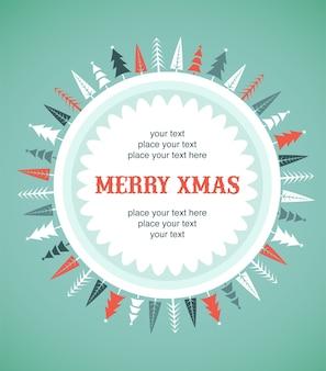 С рождеством христовым шаблон поздравительной открытки.