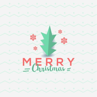Merry christmas greeting card typography flyer template
