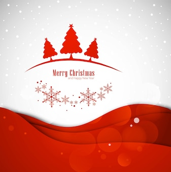 Merry christmas greeting card with christmas tree background illustration