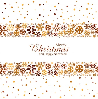Merry christmas greeting card with creative snowflakes background