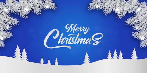 装飾が施されたメリークリスマスグリーティングカード