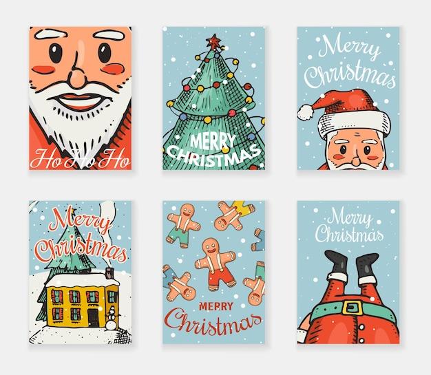 메리 크리스마스 인사말 카드입니다.