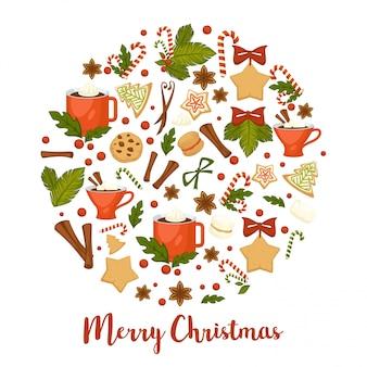 메리 크리스마스 인사말 카드