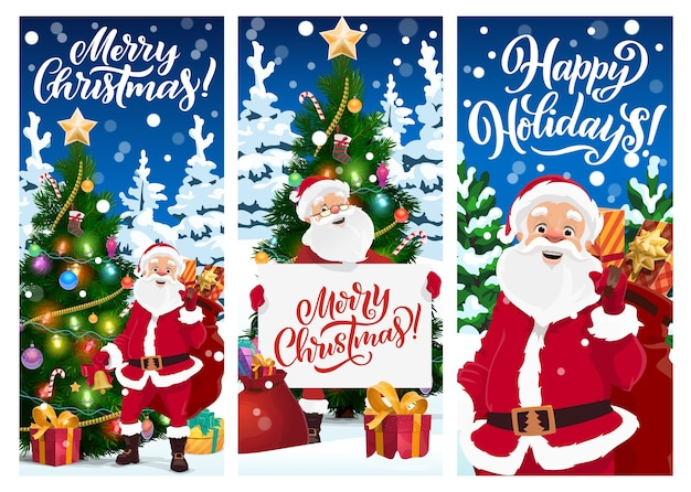 Merry christmas greeting cards or banners.