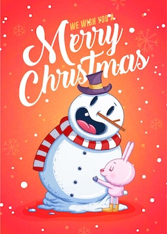 Merry christmas greeting cards retro design. illustration