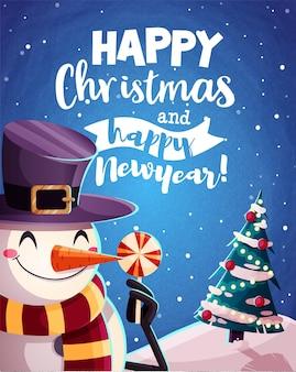 С рождеством христовым поздравительные открытки ретро-дизайн. векторная иллюстрация