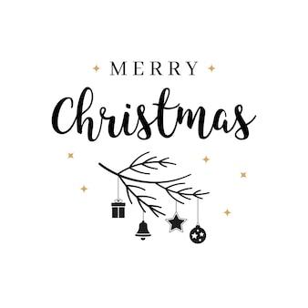 메리 크리스마스 인사말 텍스트 글자 고립 된 배경