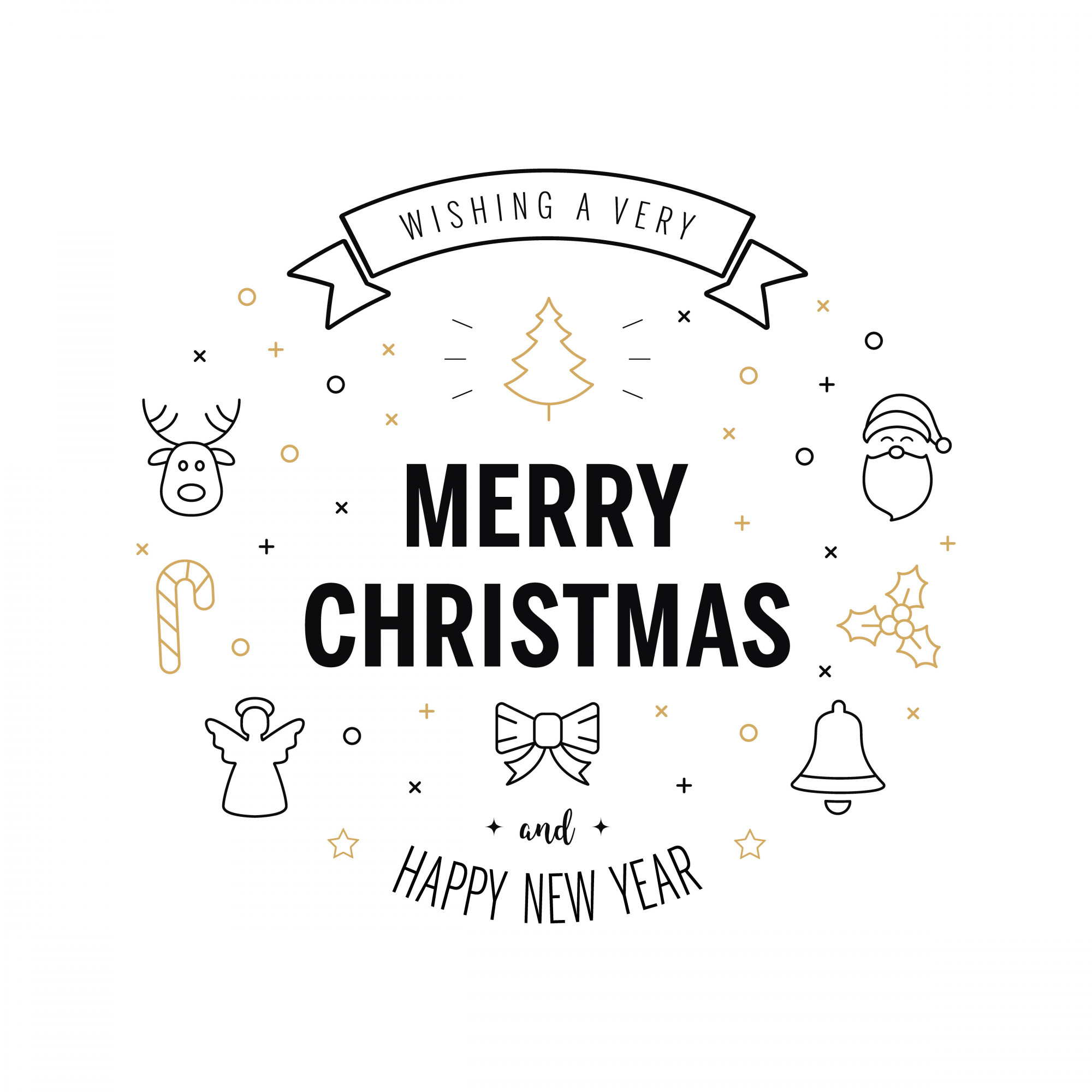 Merry christmas greeting text
