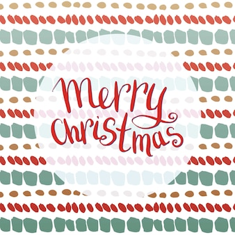 レターを持つメリークリスマスの挨拶状。ベクター。