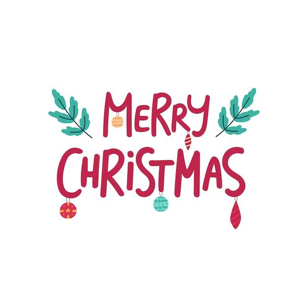 메리 크리스마스 손으로 그린 글자