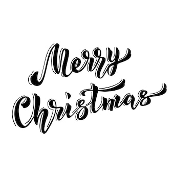 Merry christmas hand drawn lettering.