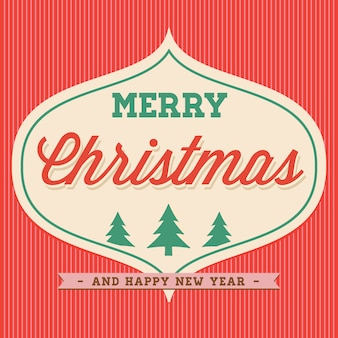 Merry christmas hand lettering typographical.