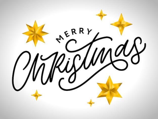 メリークリスマス手書きのモダンな筆文字