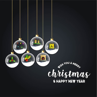 Merry Christmas Hanging Gift Black background