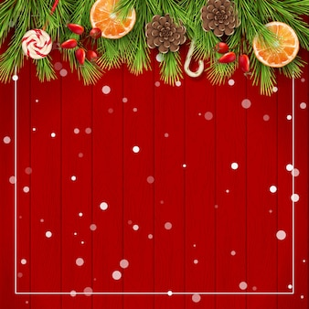 Merry christmas and happy new background