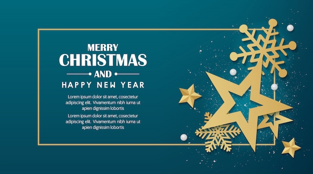 Merry christmas and happy new year 2020 background