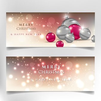 Merry christmas and happy new year, 2020 banner