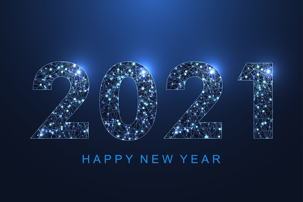 2021 Christmas Technology Premium Vector Modern Futuristic Technology Template For Merry Christmas And Happy New Year 2021 With Connected Lines And Dots Plexus Geometric Effect Global Network Connection