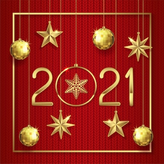 Merry christmas and happy new year 2021 background