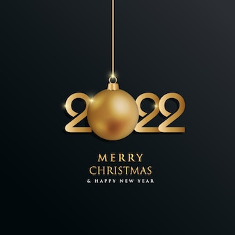 Merry christmas and happy new year 2022