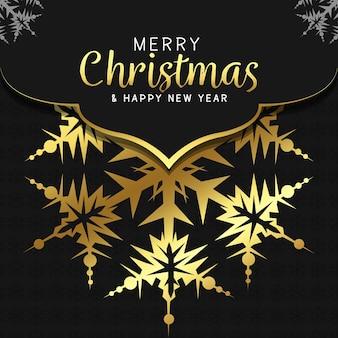 Merry christmas and happy new year background luxury mandala background with golden arabesque