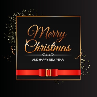 Merry christmas and happy new year background. vector illustration