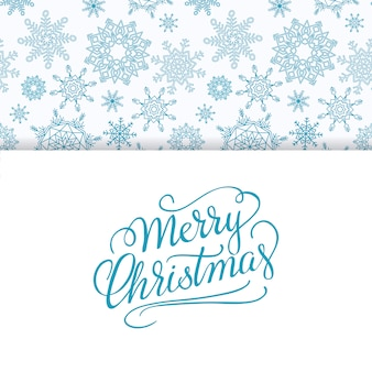 Merry christmas and happy new year background with snowflakes.