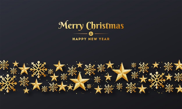 Merry christmas and happy new year background.