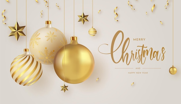 Merry christmas and and happy new year banner background