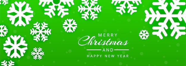 Merry christmas and happy new year banner template