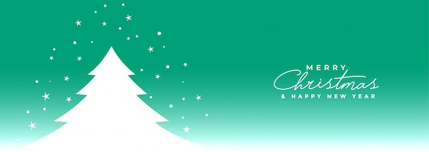 Merry christmas and happy new year banner