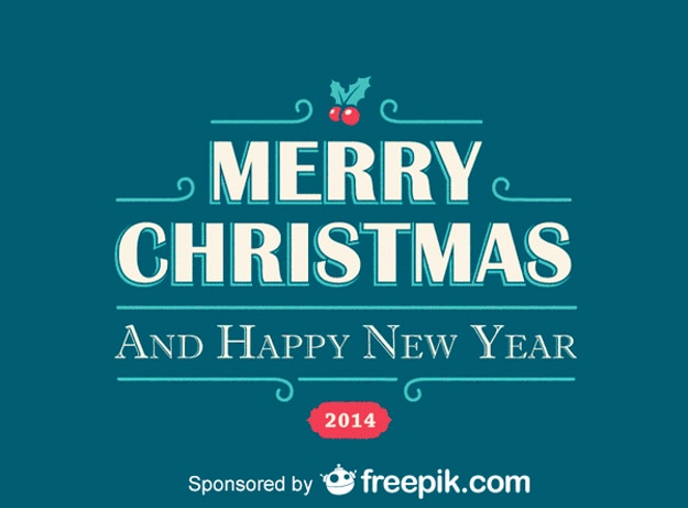 Merry christmas and happy new year blue backgrounds