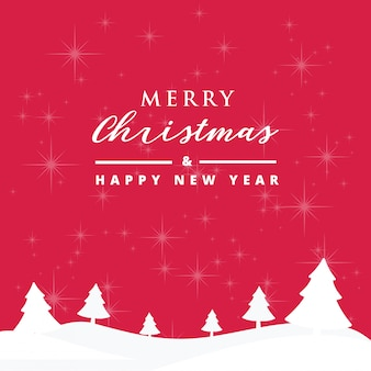 Merry christmas and happy new year card with beautiful snowflakes background