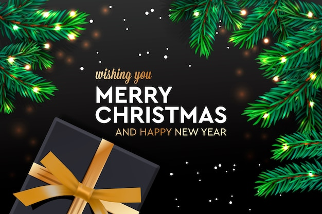 Merry christmas and happy new year. christmas poster, greeting card, website