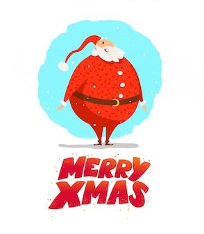 Merry christmas, happy new year congratulation . . cartoon style. good for xmas postcard, card, , advertisement, flayer,  .