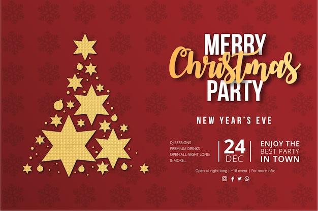 Manifesto dell'evento di buon natale e felice anno nuovo