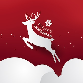 Merry christmas and happy new year greeting card typography flyer template.