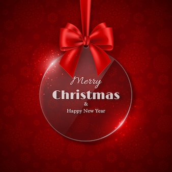 Merry christmas and happy new year holiday design