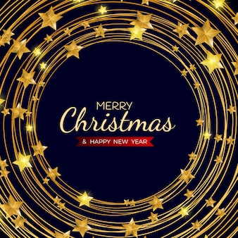 Merry christmas and happy new year holiday template background