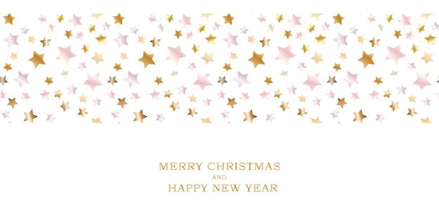 Merry christmas and happy new year holiday template background.