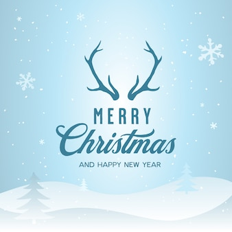 Merry christmas and happy new year lettering template. greeting card or invitation